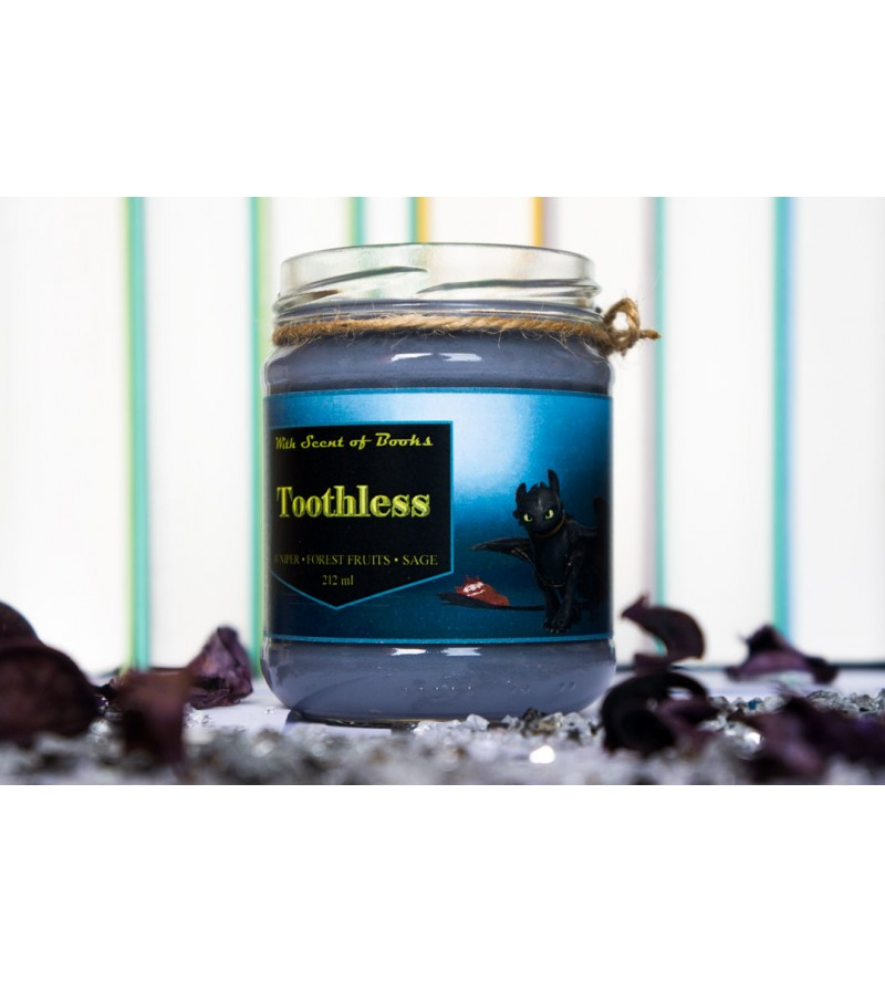 """Candle """"Toothless"""""""
