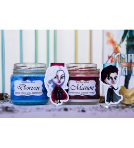 Manon and Dorian - Set of Magnetic Bookmarks and Candles