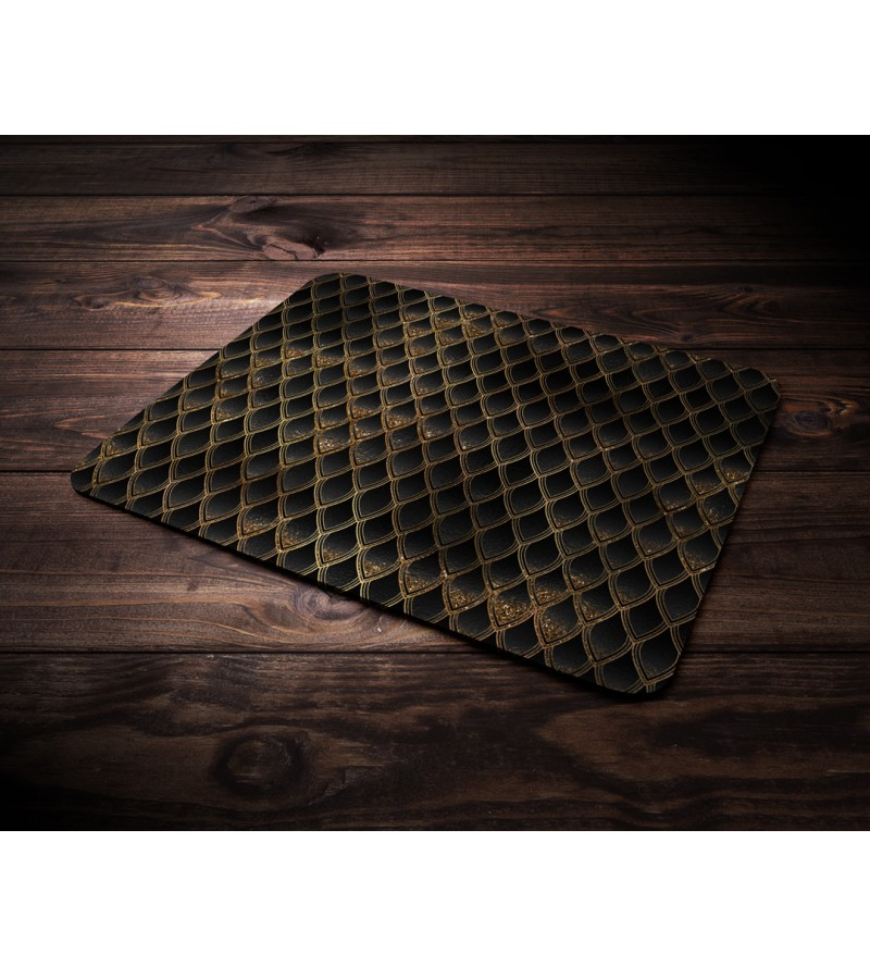 "Mouse pad ""Dragon treasure - Gold & Diamond Black"""