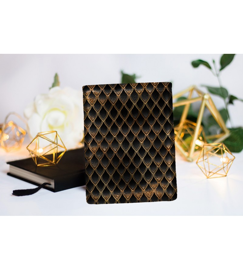 "Book Sleeve ""Dragon treasure - Gold & Diamond Black"""