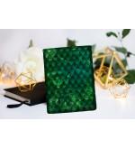 "Book Sleeve ""Dragon treasure - Emerald Green"""