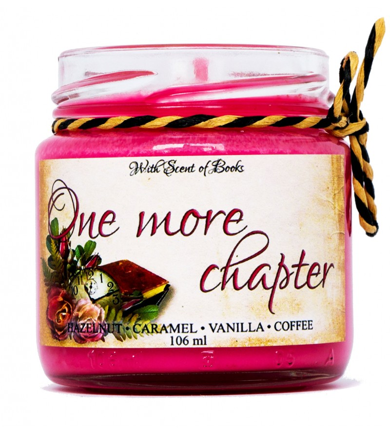 """Scented candle """"One more chapter"""""""