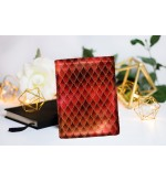 "Book Sleeve ""Dragon treasure - Ruby Red"""
